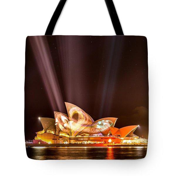 Vivid Opera House Tote Bag