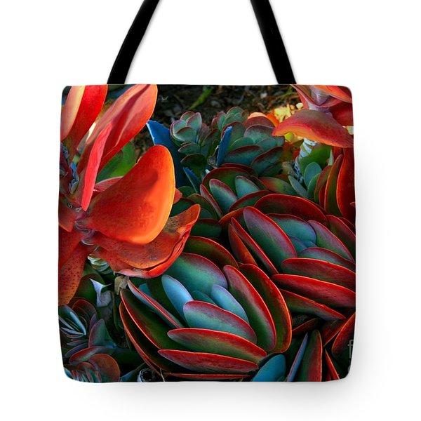 Vivid Paddle-leaf Succulent Tote Bag
