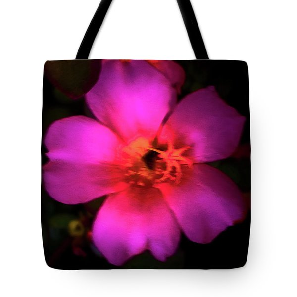 Vivid Rich Pink Flower Tote Bag