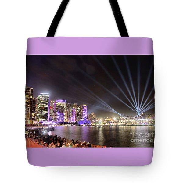 Vivid Sydney Skyline By Kaye Menner Tote Bag