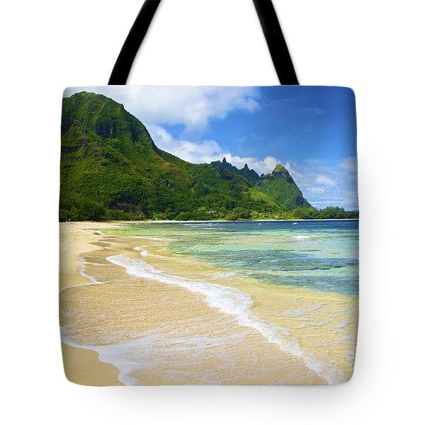 Vivid Tunnels Beach Tote Bag