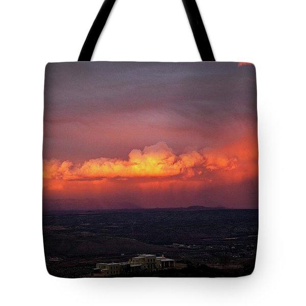 Vivid Verde Valley Sunset Tote Bag