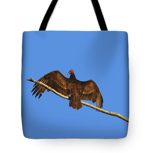 Tote Bag featuring the photograph Vivid Vulture .png by Al Powell Photography USA