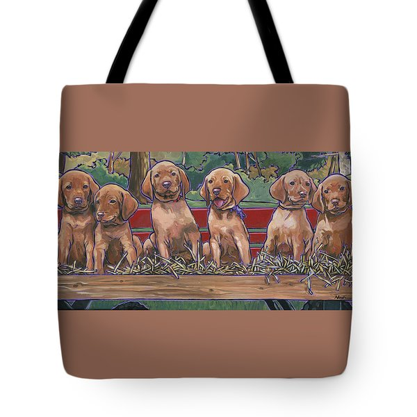Vizsla Pups Tote Bag by Nadi Spencer