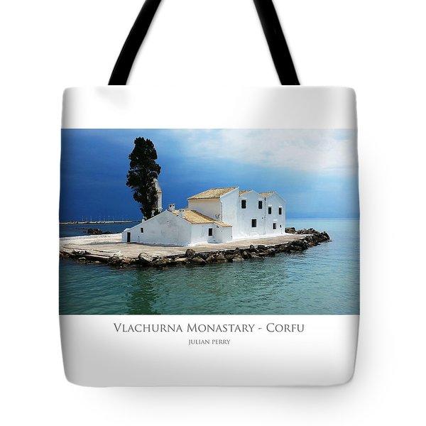 Vlachurna Monastary - Corfu Tote Bag