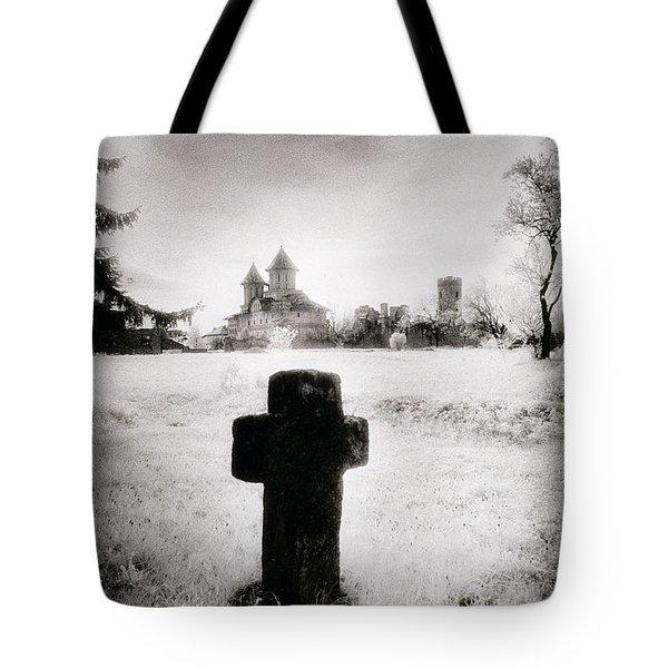 Vlad Draculas Palace Tote Bag by Simon Marsden