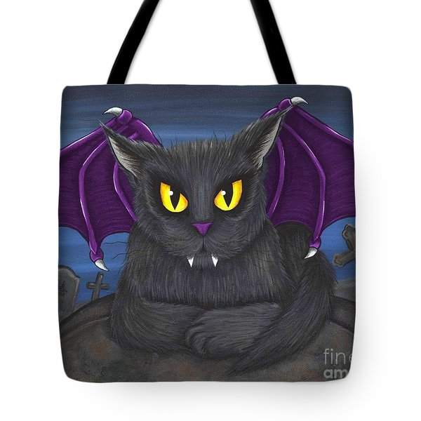 Vlad Vampire Cat Tote Bag