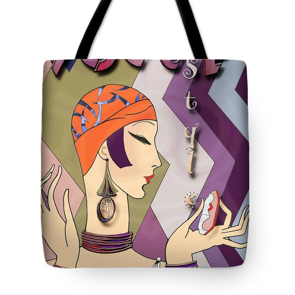 Tote Bag featuring the digital art Vogue 5 by Chuck Staley