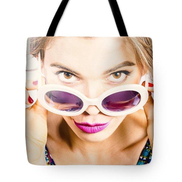 Vogue Pin Up Tote Bag