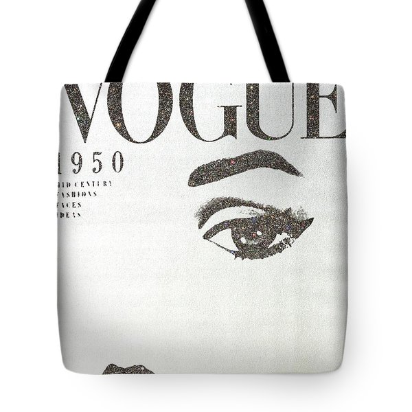 Vogue Silver Tote Bag