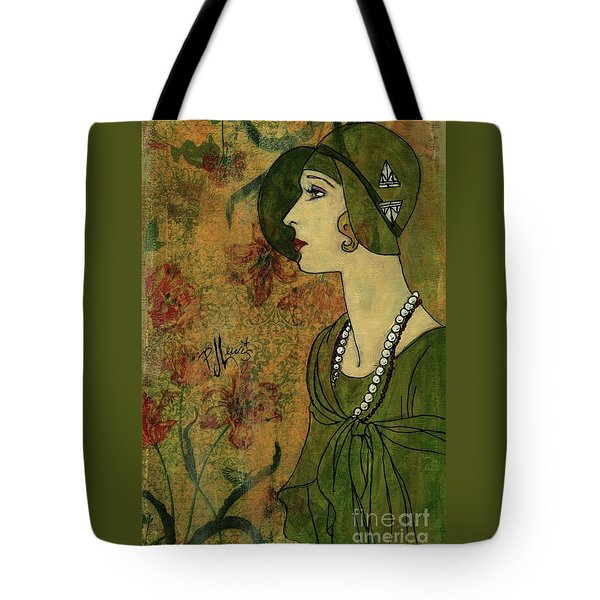 Tote Bag featuring the painting Vogue Twenties by P J Lewis