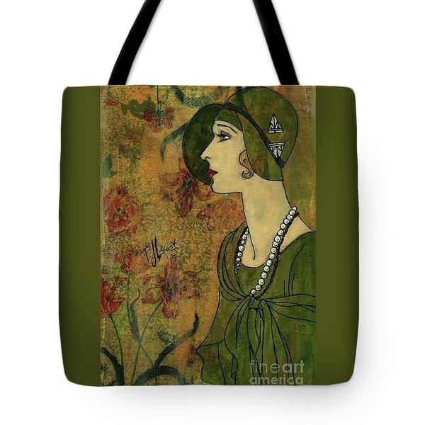 Vogue Twenties Tote Bag by P J Lewis