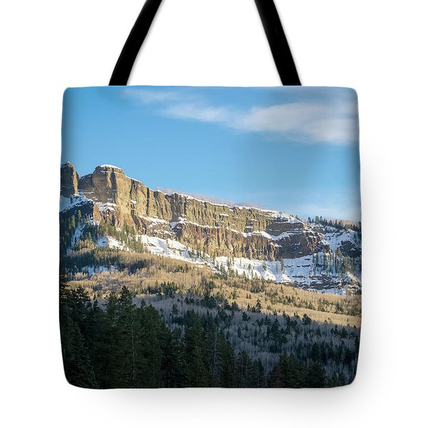 Volcanic Cliffs Of Wolf Creek Pass Tote Bag