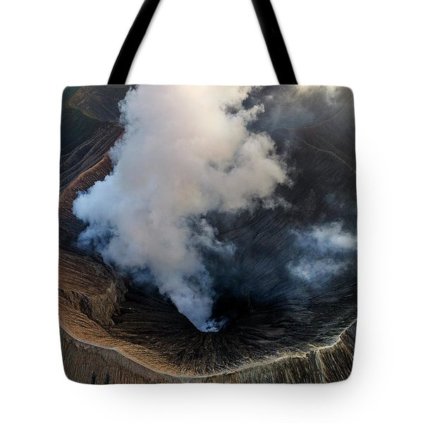 Tote Bag featuring the photograph Volcanic Crater From Above by Pradeep Raja Prints