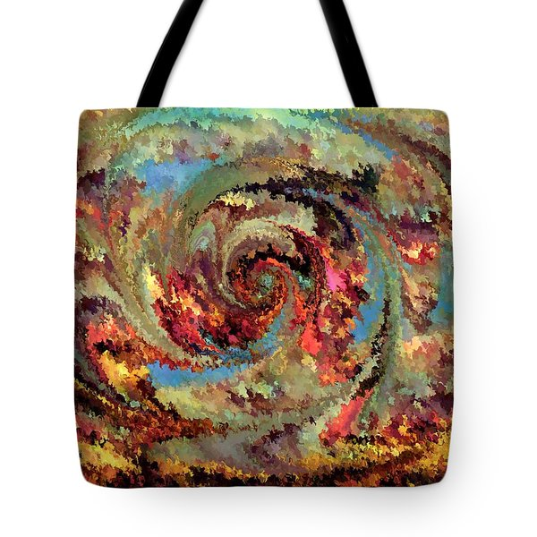Volcanic Eruption Tote Bag by Rafi Talby