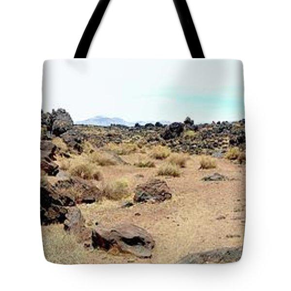 Volcanic Field Panorama Tote Bag