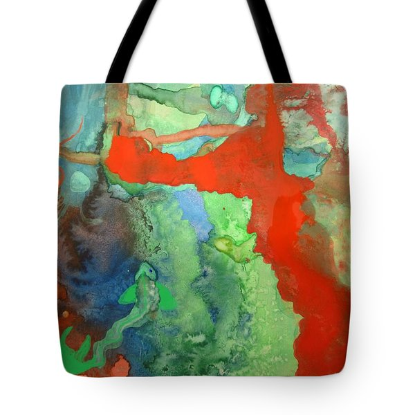 Tote Bag featuring the mixed media Volcanic Island by Mary Ellen Frazee