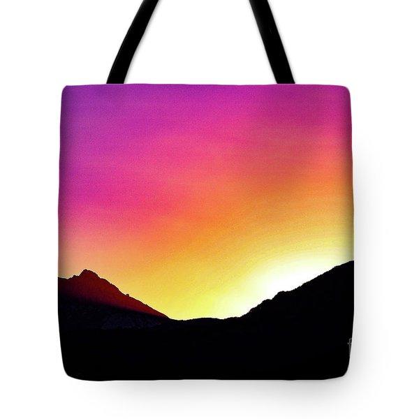 Volcanic Sunrise Tote Bag