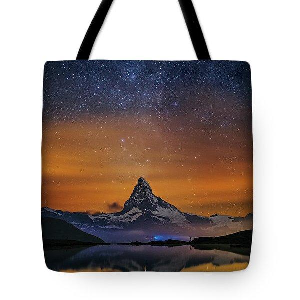 Volcano Fountain Tote Bag