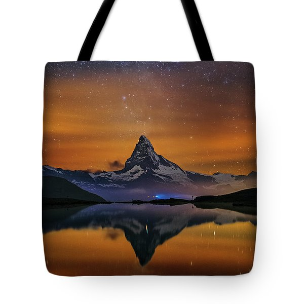 Volcano Fountain Tote Bag