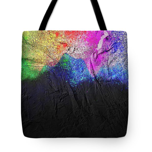 Tote Bag featuring the painting Volcano by Mark Taylor