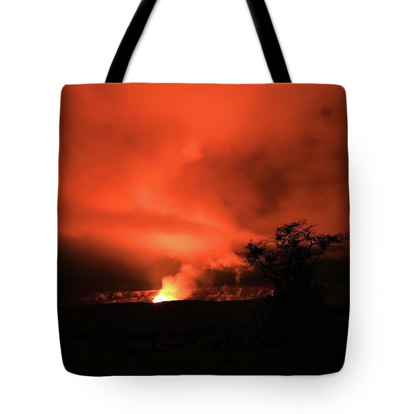 Volcano Under The Mist Tote Bag