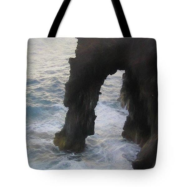 Volcanoes National Park Photo Sketch Tote Bag