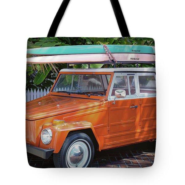 Volkswagen And Surfboards Tote Bag