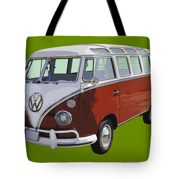 Volkswagen Bus 21 Window Bus  Tote Bag