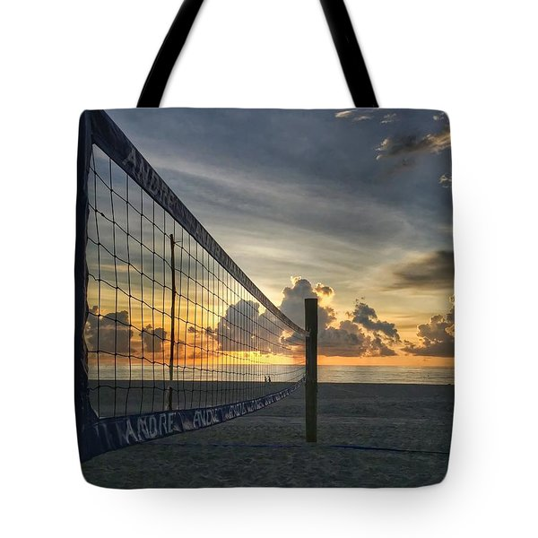 Volleyball Sunrise Tote Bag