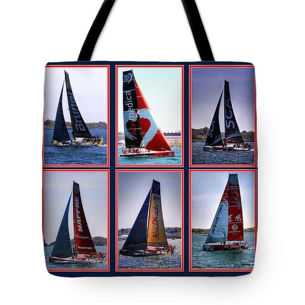 Volvo Ocean Race Newport 2015 Tote Bag by Tom Prendergast