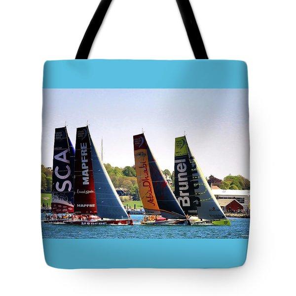 Volvo Ocean Race Newport Ri Tote Bag