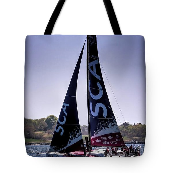 Volvo Ocean Race Team Sca Tote Bag