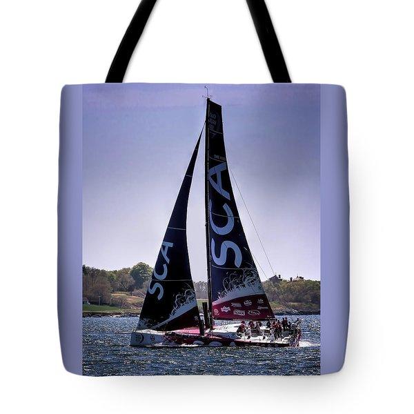 Volvo Ocean Race Team Sca Tote Bag