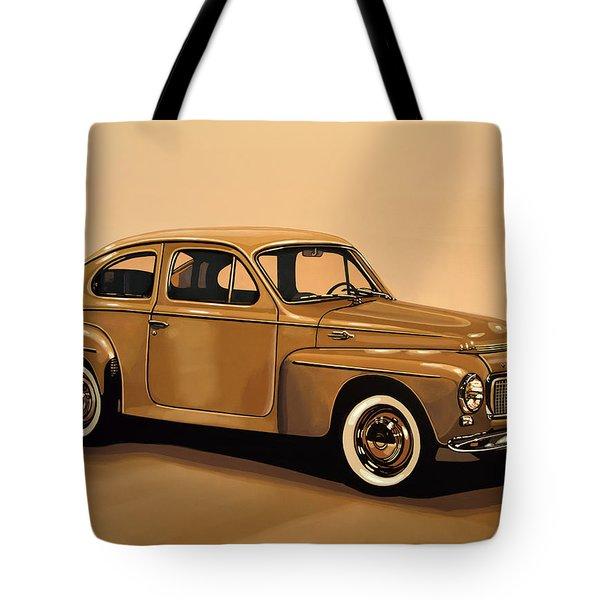 Volvo Pv 544 1958 Painting Tote Bag