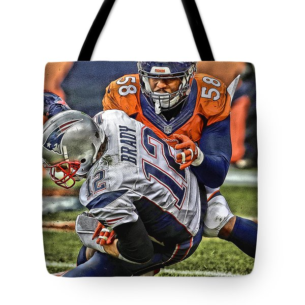 Von Miller Denver Broncos Art Tote Bag