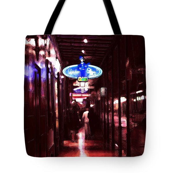 Voodoo Blues On Bourbon Street Tote Bag by John Rizzuto