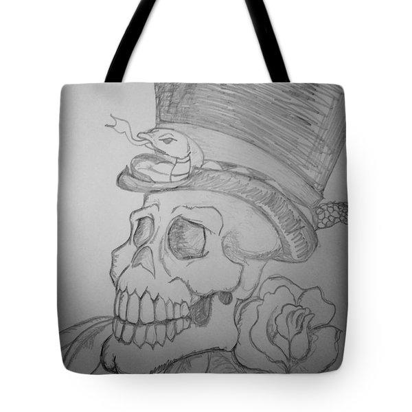 Voodoo Skull Tote Bag