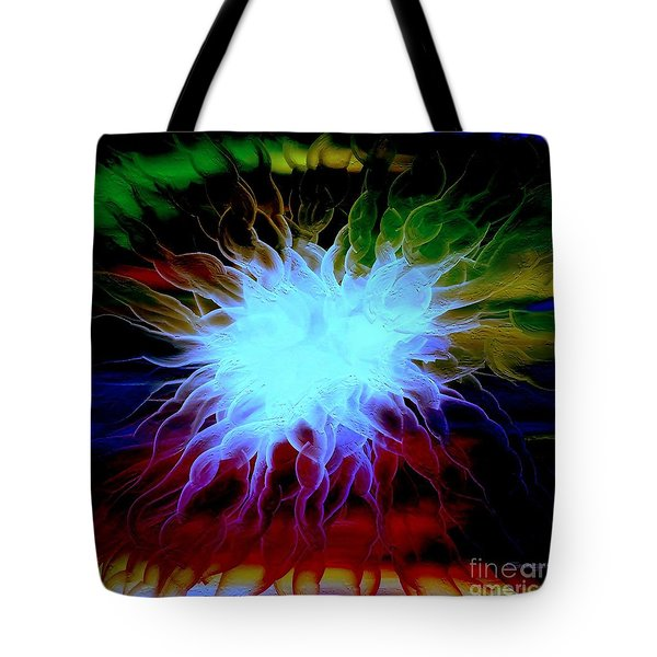 Tote Bag featuring the painting Vortex by Greg Moores