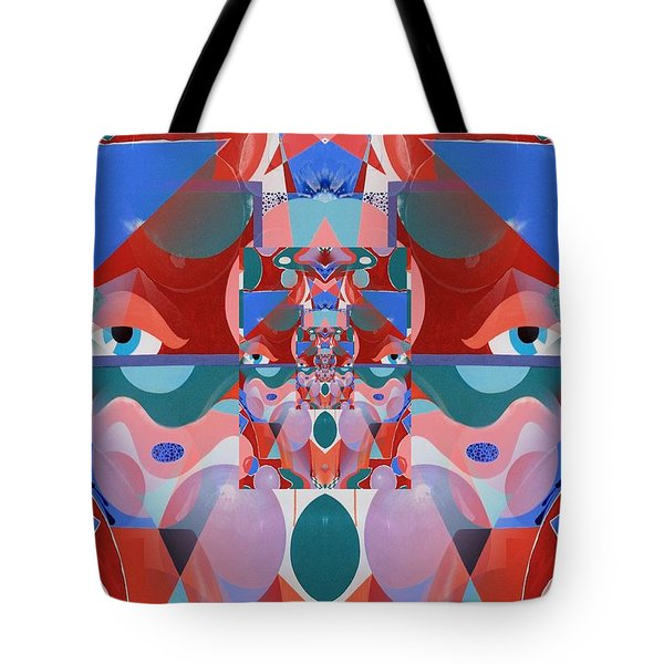 Abstract Vortex In Red Tote Bag