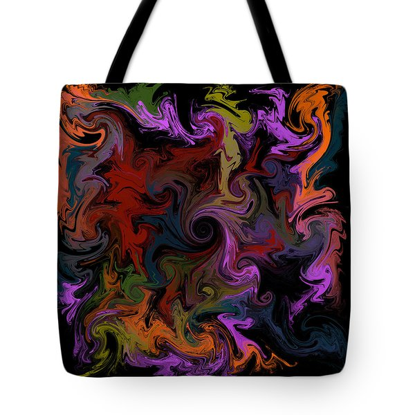 Tote Bag featuring the digital art Vortex One by Iowan Stone-Flowers
