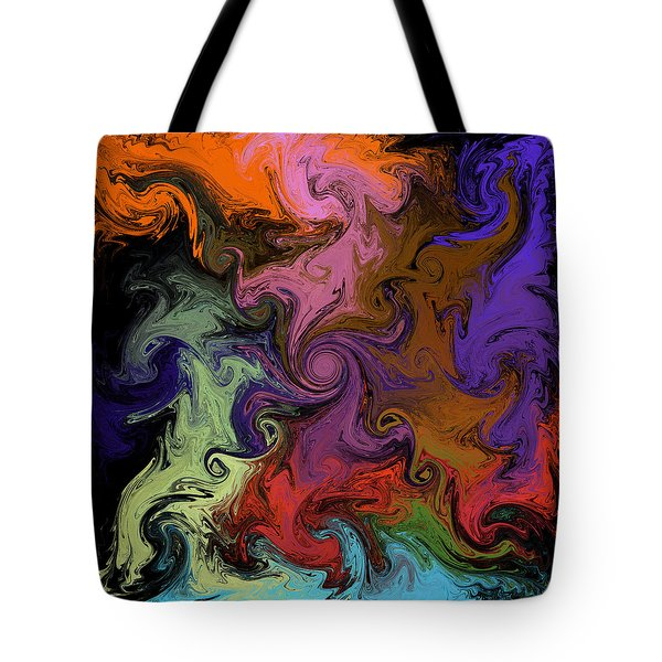 Tote Bag featuring the digital art Vortex Two by Iowan Stone-Flowers