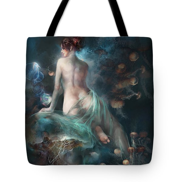 Tote Bag featuring the digital art Voyage by Te Hu