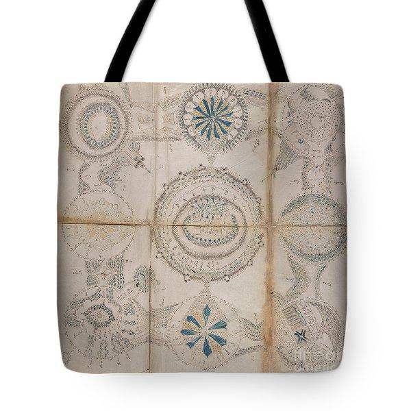 Voynich Astro 3x3 Tote Bag