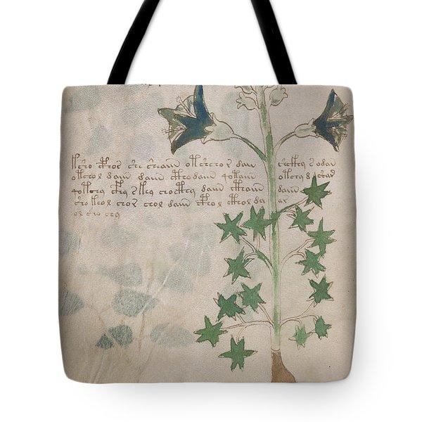 Voynich Flora 03 Tote Bag