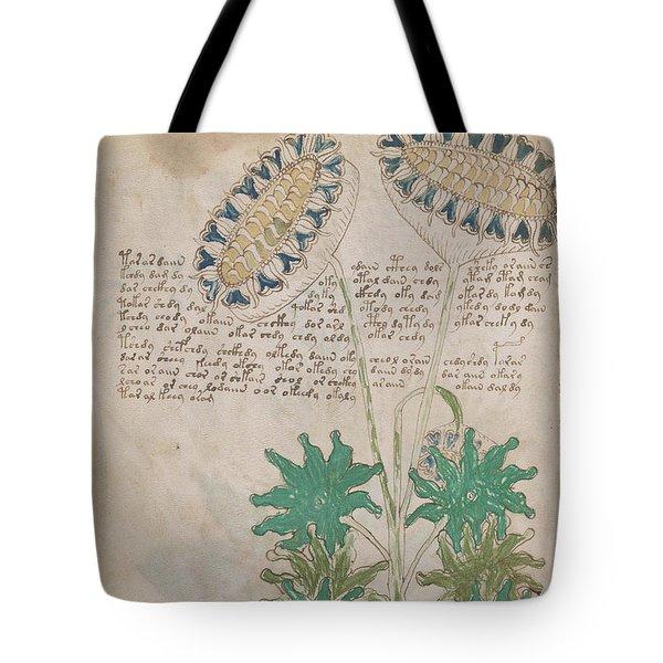 Voynich Flora 04 Tote Bag