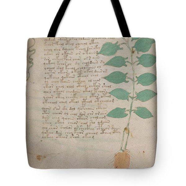 Voynich Flora 07 Tote Bag