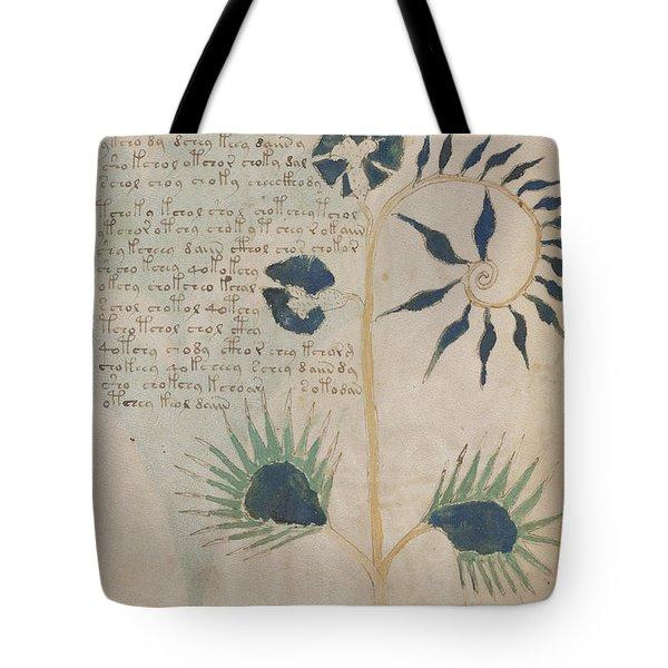 Voynich Flora 12 Tote Bag