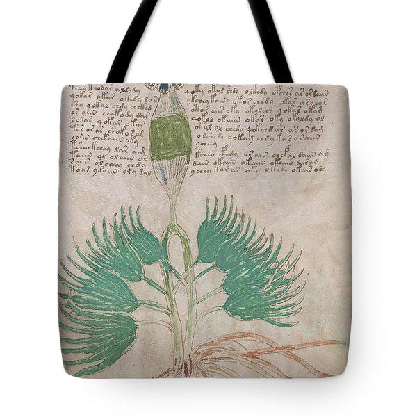 Voynich Flora 16 Tote Bag
