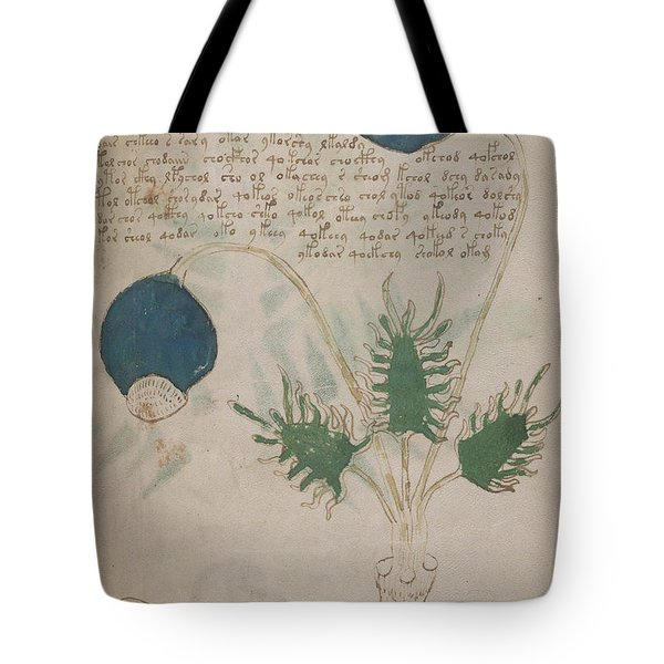 Voynich Flora 20 Tote Bag